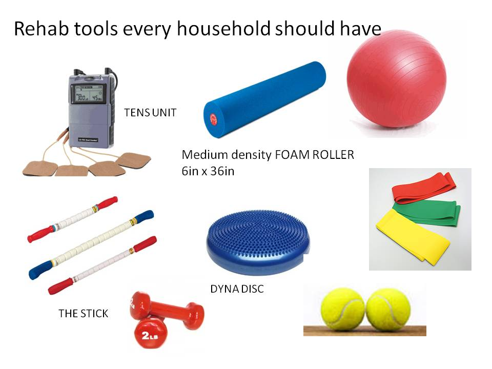 Home tools for pain relief