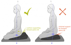 sitting properly to avoid back pain
