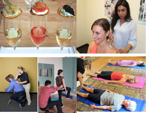Health & Wine: chiropractic, massage and acupuncture